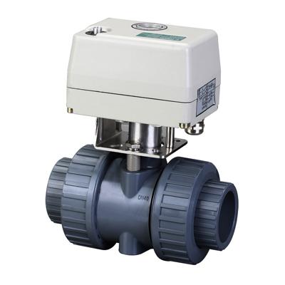 Q661F-10S型UPVC电动球阀